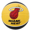 NBA Miami Heat TEAM RUBBER ball 2011 (7, sphere-black/yellow) SPALDING