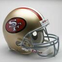 NFL 샌프란시스코 49ers Throwback Authentic On-Field 헬멧 (64-95) Riddell