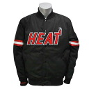 NBA Miami Heat Back Satin jacket (black) Mitchell&Ness which improves