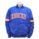 NBA New York Knicks Back Satin jacket (blue) Mitchell&Ness which improves