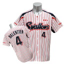 2013 Tokyo Yakult Swallows #4 Vladimir Valentin replica uniform sublimation print (home) Zett