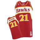 NBA hawks # 21 Dominique Wilkins Throwback Authentic Jersey (1986 - 1987 and load) Mitchell & Ness