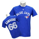 MLB Blue Jays #66 Munenori Kawasaki Player T-shirt JPN Ver (blue) Majestic