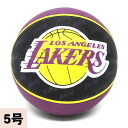 2013 (black / purple -5 ball) NBA Los Angeles Lakers TEAM RUBBER ball SPALDING