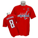 2013 (red) NHL capitals #8 Alexander オベチキン Name&Number T-shirt Reebok