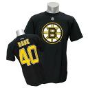 2013 (black) NHL Bruins #40 トゥーッカ rusk Name&Number T-shirt Reebok