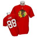 NHL Blackhawks # 88 Patrick Kane Name Number T shirt 2013 (red) Reebok