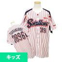 2013 Tokyo Yakult Swallows #2896 saliva Kuro replica uniform sublimation print Jr. (home) Zett