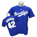 MLB Dodgers #42 Jackie Robinson Cooperstown Player Name & Number T-shirt (royal) Majestic