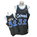 NBA magic # 32 Shaquille O'Neal Authentic Throwback Jersey (1994 - 1995 / load) Mitchell &ヒess