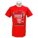 NBA Bulls #1 Derrick Rose Logo Lines T-shirt (red) Majestic