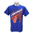 NBA Knicks #33 Patrick Ewing Retro Player T-shirt (royal) Majestic