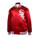 MLB Chicago White Sox Authentic Satin jacket (1971-Scarlett) Mitchell &Ness