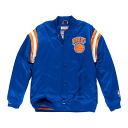 NBA New York Knicks Division Satin jacket (royal) Mitchell&Ness