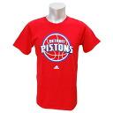 NBA Detroit Pistons Full Primary Logo Short Sleeve T-shirt (red) Adidas