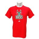 NBA Milwaukee Bucks Full Primary Logo Short Sleeve T-shirt (red) Adidas