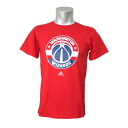 NBA Washington Wizards Full Primary Logo Short Sleeve T-shirt (red) Adidas
