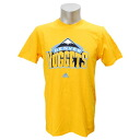 NBA Denver Nuggets Full Primary Logo Short Sleeve T-shirt (gold) Adidas