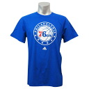 NBA Philadelphia, 76ers Full Primary Logo Short Sleeve T-shirt (blue) Adidas
