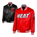 NBA Miami Heat Exclusive Collection Current & Hardwood Classics Reversible Satin jacket (black / red) Majestic