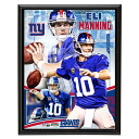 NFL Giants #10 Ely Manning Sublimated 10x13 Player Plaque Mounted Memories