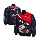 NFL New England Patriots Kick-Off Twill Button-Up jacket (navy-blue / red) MTC