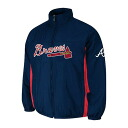 MLB Atlanta Braves Authentic Double Climate On-Field jacket (navy) Majestic