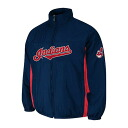 MLB Cleveland Indians Authentic Double Climate On-Field jacket (navy) Majestic