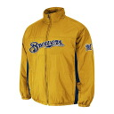 MLB Milwaukee Brewers Authentic Double Climate On-Field jacket (gold) Majestic