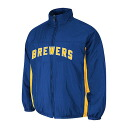Majestic MLB Milwaukee Brewers Authentic Double Climate On-Field jacket (blue)