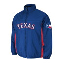 MLB Texas Rangers Authentic Double Climate On-Field jacket (blue) Majestic