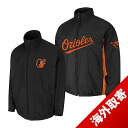 -1 MLB Baltimore Orioles Authentic Triple Climate 3-In On-Field jacket (black) Majestic