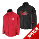 -1 MLB Cincinnati Reds Authentic Triple Climate 3-In On-Field jacket (black / red) Majestic