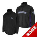 -1 MLB Colorado Rockies Authentic Triple Climate 3-In On-Field jacket (black) Majestic