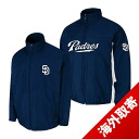 -1 MLB San Diego Padres Authentic Triple Climate 3-In On-Field jacket (navy) Majestic
