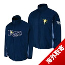 -1 MLB Tampa Bay raise Authentic Triple Climate 3-In On-Field jacket (navy) Majestic