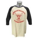 NBA Chicago Bulls Raglan shirt (eggshell / black wash) Junkfood
