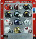 NCAA Big 10 Pocket Size Conference 12 Piece set helmet Riddell
