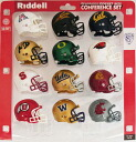 12 12 NCAA Big Pocket Size Conference Piece helmet set Riddell