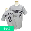 2014 Chunichi Dragons #2 Masahiro Araki number T-shirt uses (visitor)