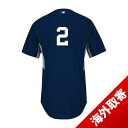 Majestic MLB Yankees # 2 Derek Jeter Authentic 2014 Player Cool Base BP Jersey (home)
