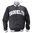 NBA Brooklyn nets Third Quarter Satin jacket (black)-Mitchell &Ness