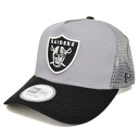 NFL Oakland Raiders D-Frame Trucker Mesh cap (gray) New Era