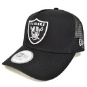 NFL Oakland Raiders D-Frame Trucker Mesh cap (black) New Era