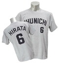 Chunichi Dragons #6 Ryosuke Hirata number T-shirt 2014 (visitor)