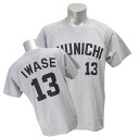 Chunichi Dragons #13 Hitoki Iwase number T-shirt 2014 (visitor)