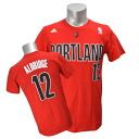 Adidas NBA Trail Blazers # 12 lamarcus Aldridge GAME TIME t-shirt (red)