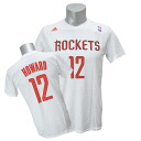 Adidas NBA rockets # 12 Dwight Howard GAME TIME t-shirt (white)