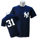 MLB New York Yankees #31 Number T-shirt (navy) Majestic