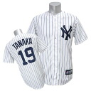 MLB Yankees #19 Masahiro Tanaka Player Replica Game uniform (home) Majestic